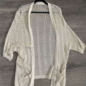 Garage Clothing open knit cardigan m/l